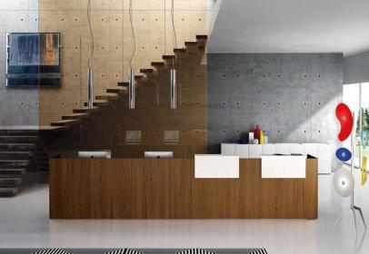 Mobili Per Ufficio Della Rovere : Della rovere reception arredo ufficio flex office srl