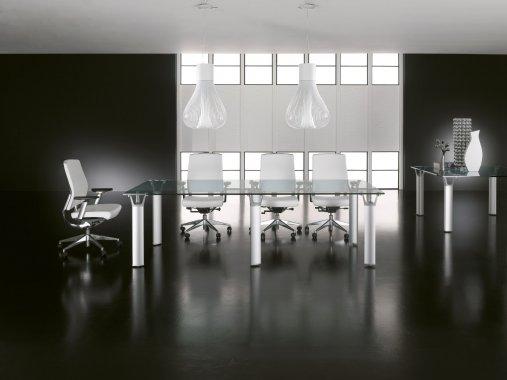 Tavolo Riunioni In Vetro.Tavolo Riunione In Vetro Fglt05 Flex Office Srl